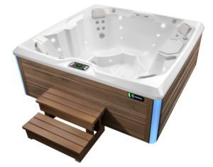 HotSpring Limelight 2018 Beam, Alpine White, Sable with Steps
